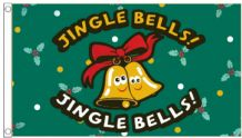 Christmas Jingle Bells 5'x3' (150cm x 90cm) Flag